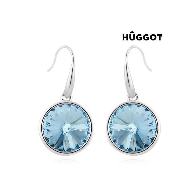 aa866727 Ny Hûggot Blue Tear rhodiumbelagt vedhæng fremstillet af Swarovski®Crystals  (45 cm)