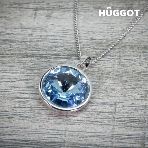 Hûggot Angel rhodiumbelagte øreringe med zirkoner fremstillet af Swarovski®Crystals