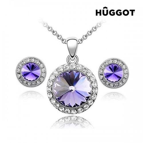 Hûggot Blue Diamond rhodiumbelagt vedhæng med zirkoner fremstillet af Swarovski®Crystals (45 cm)