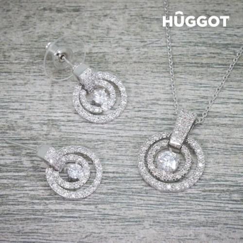 Hûggot Hook 925 Sterlingsølv øreringe med zirkoner
