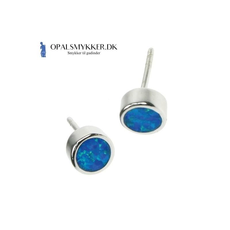 Pentagram - Blå opal (øreringe) med 925 Sterling sølv