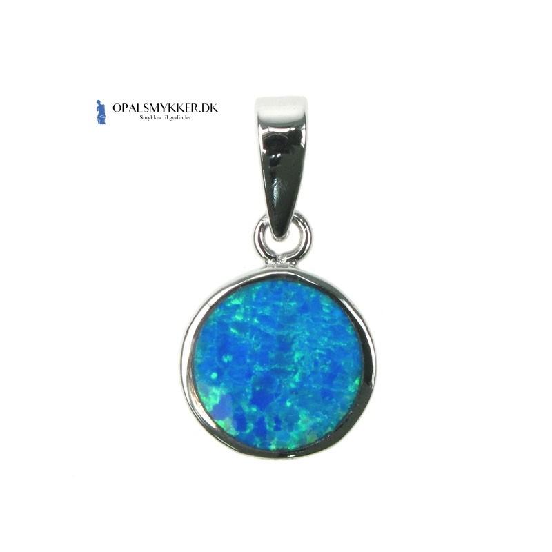 Måne Gudinde med Vinger - Blå opal (vedhæng)