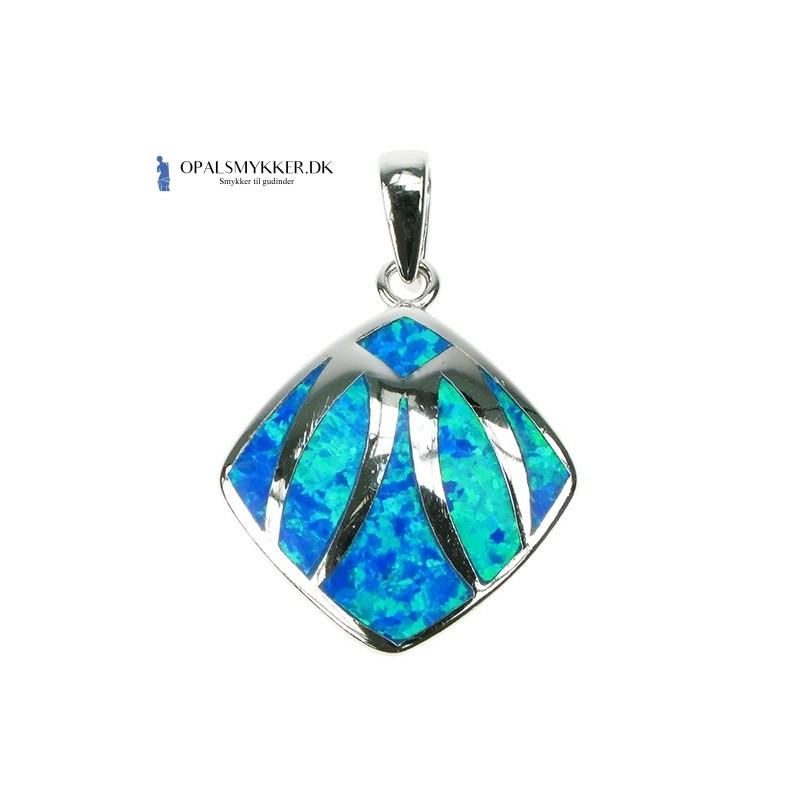 Søhest - Blå opal (vedhæng)