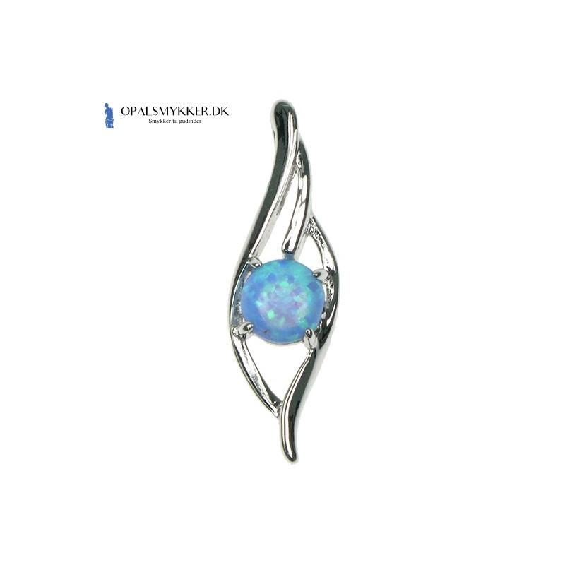 Bølge - Blå Opal (vedhæng)