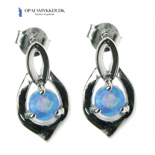 Skjold - Blå Opal (øreringe)