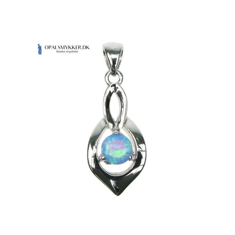 Skjold - Blå Opal (vedhæng)