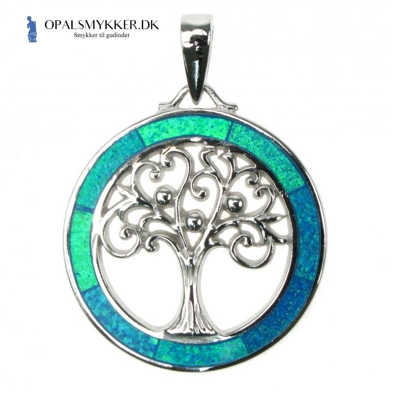 Livets Træ - Blå Opal (vedhæng)