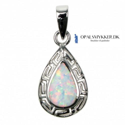 Greek Key - Sne Opal (vedhæng)