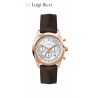 Luigi Ricci Eleganza X11 - Chronograph armbånds ur til kvinder & damer med rosa guld og læder rem