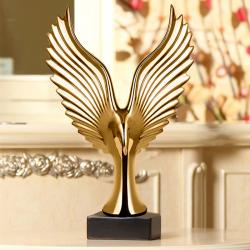 Guld ørn statue og figur