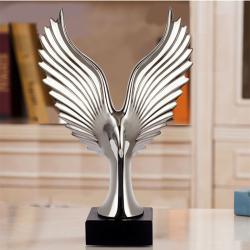Sølv Ørn statue og figur