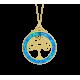 Skal - Opal smykke vedhæng med blå opal sten, 925 Sterling sølv & rhodium belægning