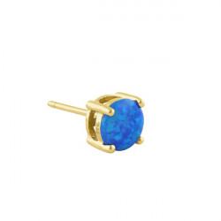 Havblå Oval - opal øreringe med 925 Sterling sølv & rhodium belægning