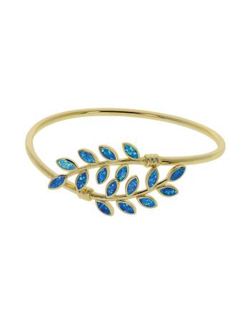 Hera - Opal armbånd med blå...
