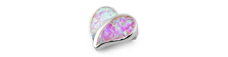 Pink Opal Smykker Med 925 Sterling Sølv & Rhodium Belægning Til Salg