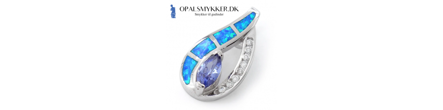 Aphrodite - Græske Opal Smykker Med Blå Sten & 925 Sterling Sølv