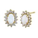 Opal øreringe med 14K guld