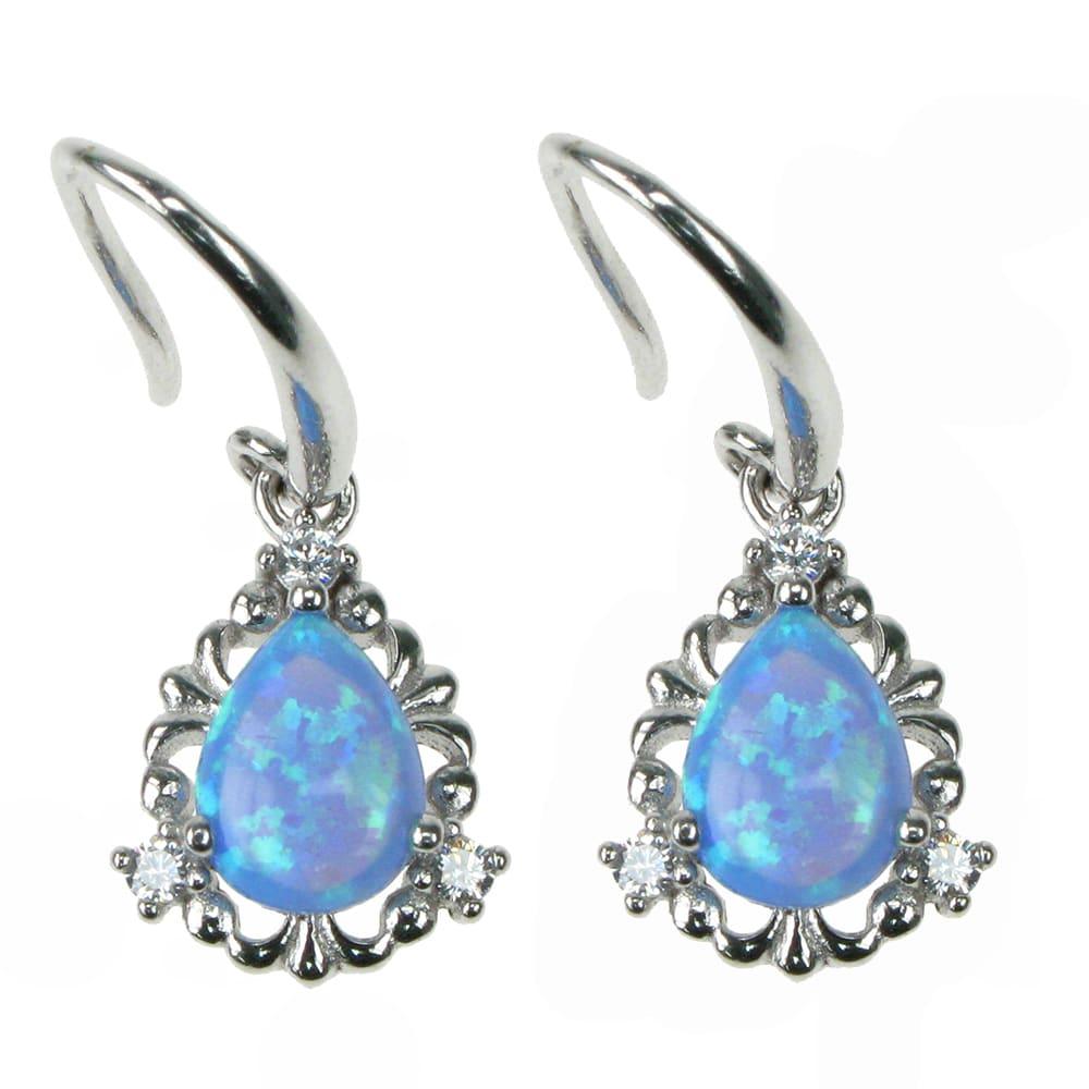 Opal øreringe med 925 Sterling sølv