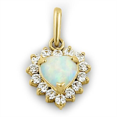 Opal vedhæng med 14K massiv guld