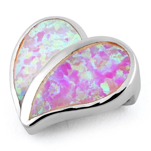 Pink opal vedhæng med 925 Sterling sølv