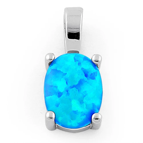 Ikaria opal smykke vedhæng med blå opal sten