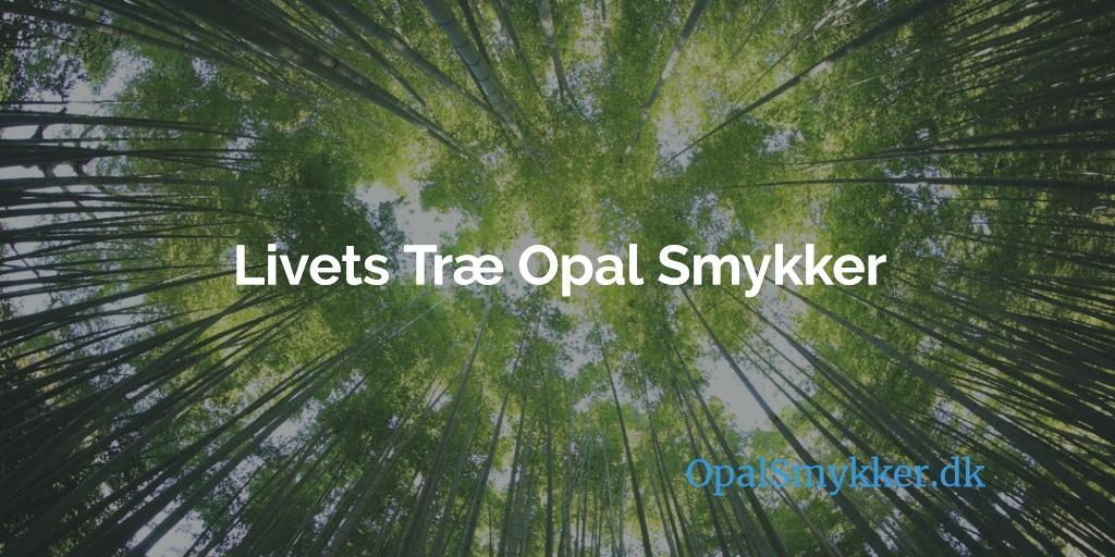 Livets Træ Smykker Med Blå Opal, Sne Opal & Ild Opal