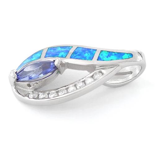 Opal vedhæng med 925 Sterling sølv