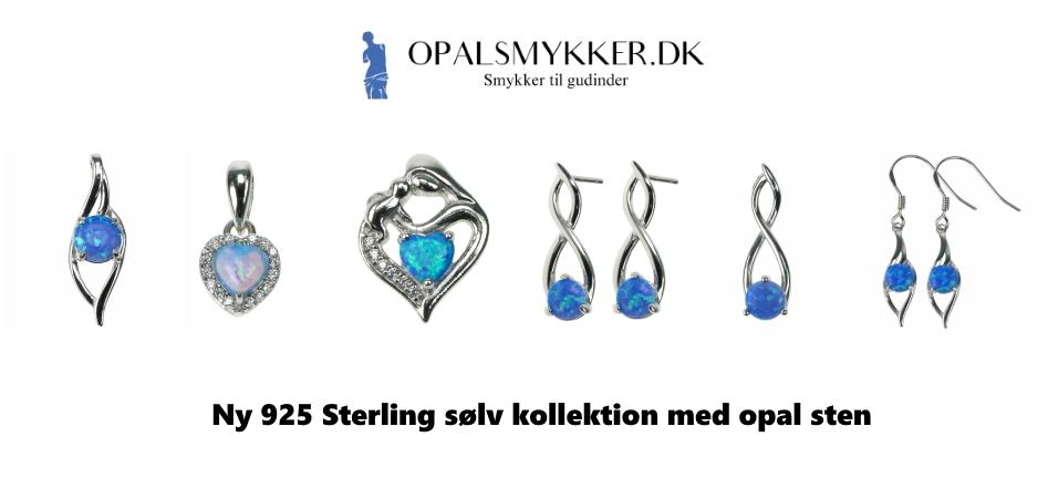 925 Sterling sølv smykker med opal sten
