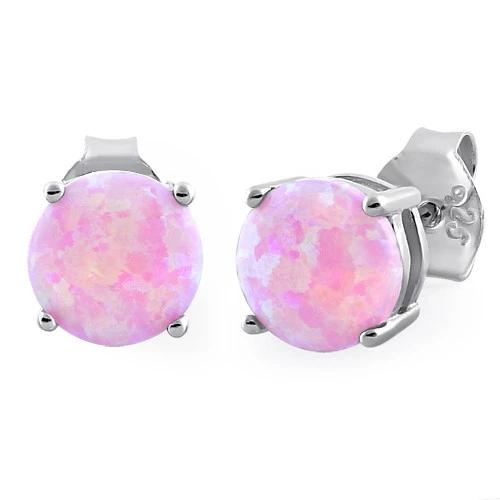 Pink opal øreringe med 925 Sterling sølv