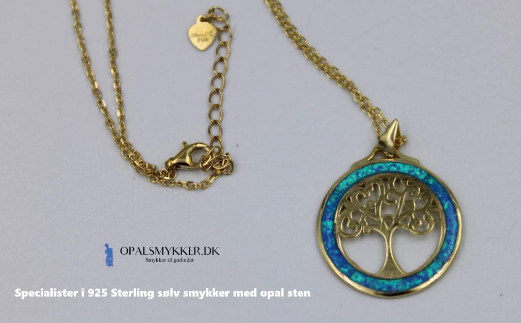 Opal halskæde med Livets Træ