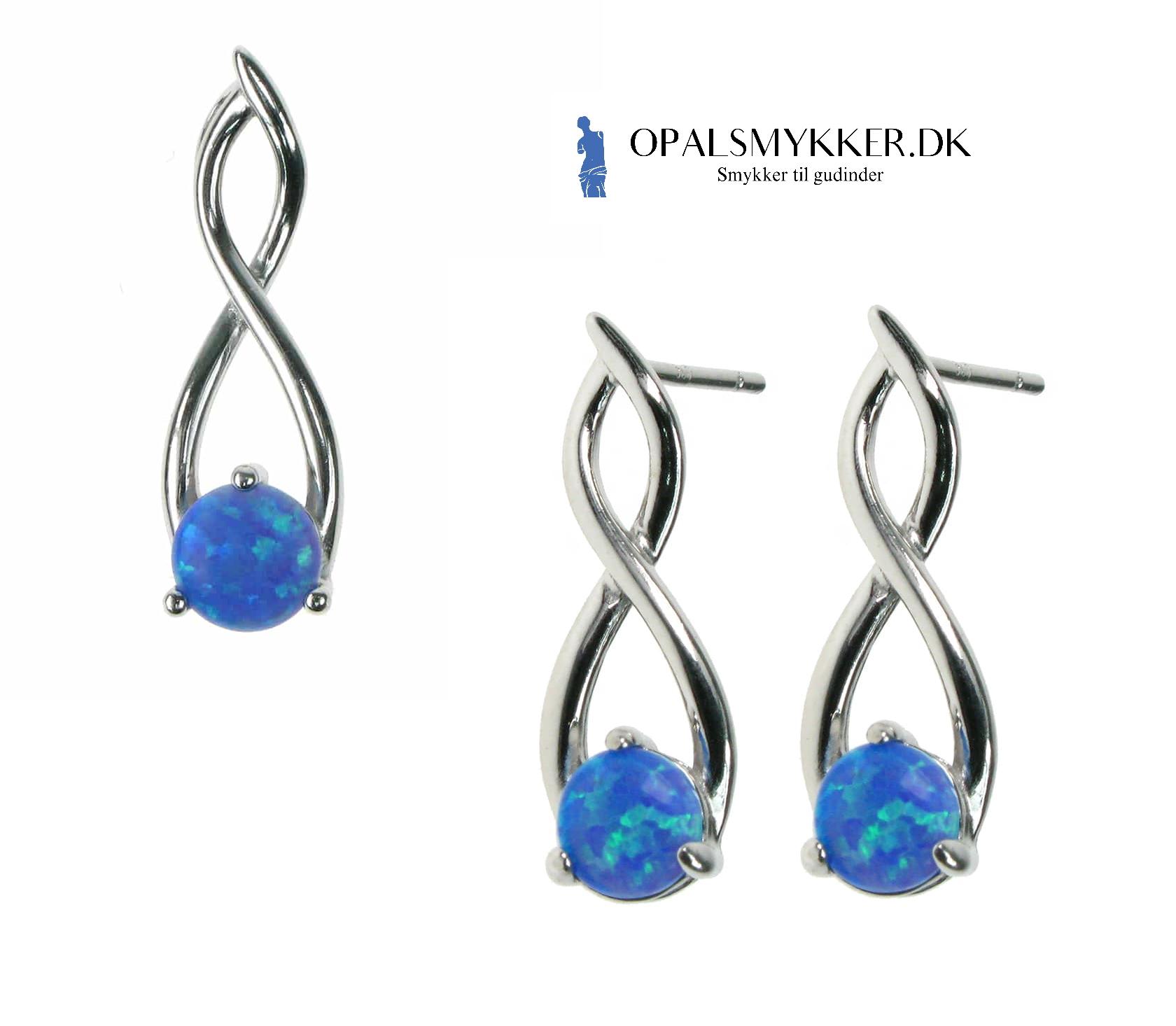 Opal sten med 925 Sterling sølv smykker