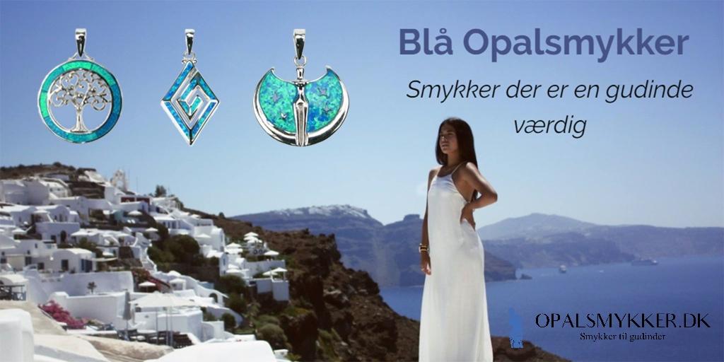 Køb smykker med blå opal sten og 925 Sterling sølv